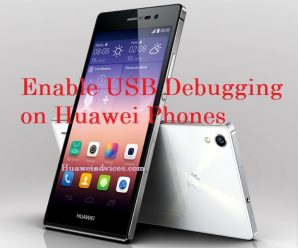 Huawei Honor USB Debugging mode