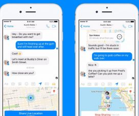 Facebook Messenger live location