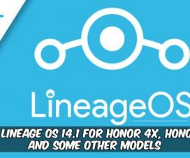 Lineage OS 14.1 for Honor 4X, Honor 4C
