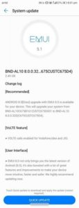 Honor 7x android 8.0 oreo emui 8.0 update india