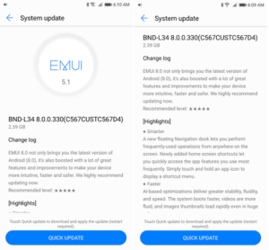 Huawei Mate SE Android Oreo update