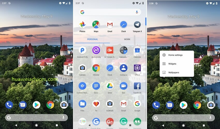 Rootless Android P launcher 1