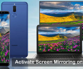 Activate Screen Mirroring on Huawei Honor 8X phones