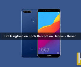 Set Ringtone on each contact on Huawei Honor phones